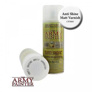 Army Painter – Peinture Spray – Sous Couche – Anti-Shine, Matt Varnish (400ml)