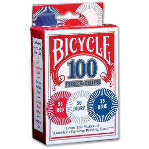 Bicycle Poker chips (jetons) – 2 grammes