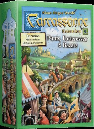 Carcassonne – Extension 8 – Ponts, Forteresses et Bazars