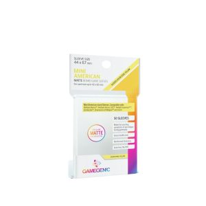 Gamegenic – Sleeves Matte 44×67 Mini US Yellow