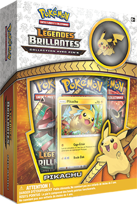 Pokémon – Coffret Pins – SL03.5 Légendes Brillantes – Pikachu