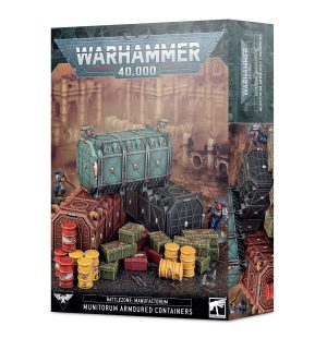 Warhammer 40 000 – Décor – Manufactorum – Conteneurs Blindés du Munitorum